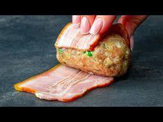 Érthető, hogy miért tűnik el szempillantás alatt – császárhúsba tekert gombócok| Ízletes TV - YouTube Bacon, Carne Picada, Albondigas, Martha Stewart, Food And Drink, Meat, Queso, Tater Tots, Recipes