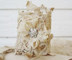 Vintage lace cuff...