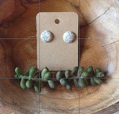 white turquoise earrings ☁️
