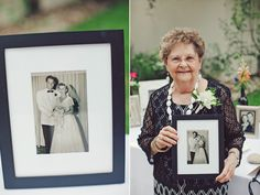 how special to have your grandparents wedding photos on display? what a wonderful idea   the Nichols photo team   #wedding #grandparents #vintagewedding #vintagephotos
