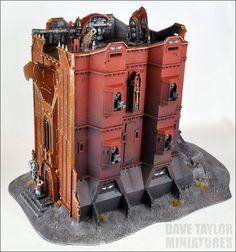 Les décors Quantum Gothic en situation sur un Bastion créé par Dave Taylor !