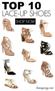LACE-UP SHOES for Spring and Summer! Favorite Shoe Styles and Trends for Women! #summerstyles #summer #summertrends #summerfashion #summershoes