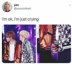 Guys I'm done... Yoonmin... YOONMIN IS FREAKING KILLING MEEEEEE like I really believe it's real or I hope it's real because just look... I know that in korea boys are like a little touchy but I don't think they're like just because of it