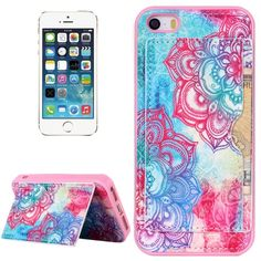 [$1.81] Flower Buds Pattern Protective Case with Holder and Card Slots for iPhone 5 & 5S