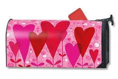 Magnet Works Mailwraps Mailbox Cover - Heart Flowers