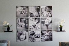 25 Cool Ideas To Display Family Photos On Your wall Display Family Photos, Family Pictures, Family Collage, Displaying Photos On Wall, Display Pictures, Hanging Pictures, Photowall Ideas, Decoration Photo, Exposition Photo