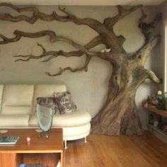 the way this tree becomes part of the living space in a non-threatening way is really awesome and I would love to capture it digitally