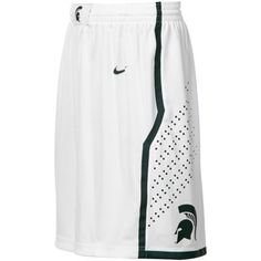 Nike Michigan State Spartans White Replica Basketball Shorts