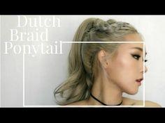 [HAIR] HOW-TO: Dutch braid ponytail 머리 예쁘게 묶는 방법!