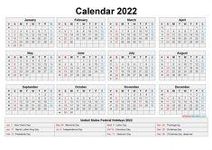 Downloadable Calendars 2022 Daily Calendar Template, Free Printable Calendar Templates, Excel Calendar, Yearly Calendar, 2021 Calendar, Calendar Design, Free Printables, Holiday Words, Holiday Calendar