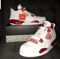 Shop Men's Air Jordan Red White size 12 Sneakers at a discounted price at Poshmark. Kicks Shoes, Shoes Sneakers, Baskets, Jordan Shoes Girls, Swag Shoes, Nike Air Shoes, Aesthetic Shoes, Fresh Shoes, Hype Shoes