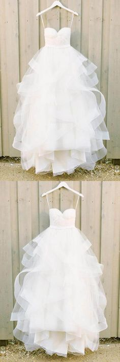 A-Line Wedding Dress, 2018 Wedding Dress, Wedding Dresses 2018 #ALineWeddingDress #2018WeddingDress #WeddingDresses2018