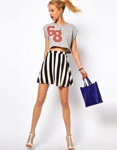 ASOS Striped Skater Skirt | Wantering Trends – Spring 2013 | #wanteringtrends go to http://springtrends2013.wantering.com/ for more!