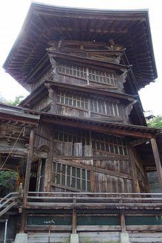 Aizu Sazae-do, the Japanese Buddhist temple in Fukushima prefecture