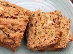 Zucchini Bread by Cathy {Straight Up Food} -- gluten-free, dairy-free, vegan, sugar-free, oil-free, salt-free, ETL (some of the ingredients are oats, millet, dates, ginger, apple)