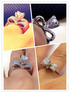 Bow inspired engagement ring....love the idea