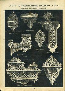 Пьетро Барелли каталог электролобзик лепнины структуры, Милан, Италия, 1906