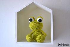 Etsy - Shop for handmade, vintage, custom, and unique gifts for everyone Crochet Frog, Crochet Amigurumi, Crochet Baby, Crochet Mignon, Crochet Animals, Suncatchers, Kawaii, Free Pattern, Dinosaur Stuffed Animal
