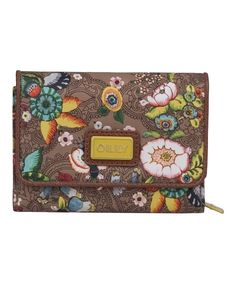 Look at this Tobacco French Flowers Small Wallet on #zulily today!
