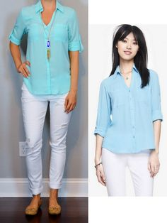 outfit post: aqua portofino shirt, white distressed jeans, nude cutout flats http://outfitposts.com/2016/05/outfit-post-aqua-portofino-shirt-white-distressed-jeans-nude-cutout-flats.html?utm_campaign=coschedule&utm_source=pinterest&utm_medium=Outfit%20Posts&utm_content=outfit%20post%3A%20aqua%20portofino%20shirt%2C%20white%20distressed%20jeans%2C%20nude%20cutout%20flats