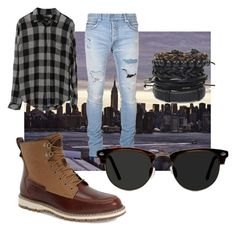 """""""Man"""" by son9o on Polyvore featuring Timberland, Balmain, Ace, men's fashion and menswear"""