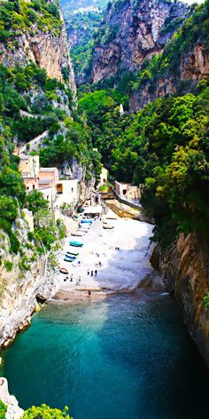 Secluded Beach, Furore, Amalfi, Italy