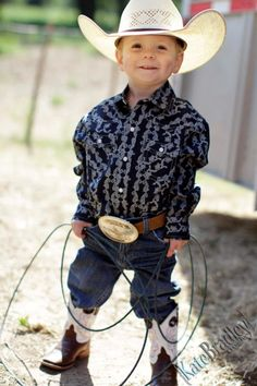 Take a picture like this of Holden with one of grandaddy and Dave's belt buckles on.
