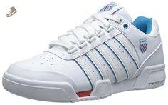 K-Swiss Women's Gstaad Athletic, White/Blue/Danube/Rose Of Sharon, 8.5 M US - K swiss sneakers for women (*Amazon Partner-Link)