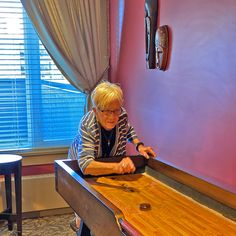 It's always a good time to try something new! New Resident Jeanette took a go at our shuffle board at Lake Bonavista Village Reirement Residence in Calgary with the help of one of our welcome ambassadors, Margaret! 😀 #vervecares #goodtimes #staysafe Emergency Response, Senior Living, Good Times, The Help