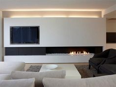 Terrific Free Contemporary Fireplace gas Suggestions Modern fireplace designs can cover a broader category compared with their contemporary counterparts. Fireplace Tv Wall, Fireplace Design, Fireplace Ideas, Fireplace Pictures, Linear Fireplace, Ethanol Fireplace, Home Interior Design, Interior Architecture, Home And Living