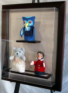 Mr. Rogers figurines from Mr. Rogers Neighborhood.
