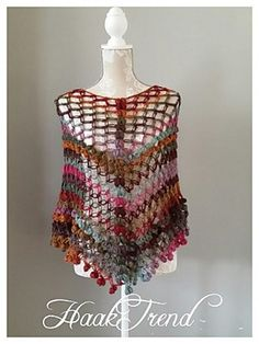 Ravelry: Summer poncho pattern by HaakTrend by Fieke de Rooy ~ **Free Crochet Pattern** Poncho Au Crochet, Crochet Cape, Crochet Shawls And Wraps, Love Crochet, Crochet Scarves, Crochet Clothes, Knit Crochet, Crochet Summer, Crochet Shirt
