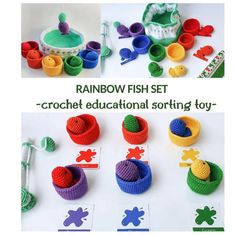The best toys you can give to a child are made by yourself <3 #amigurumi #crochet #crochetrainbow #rainbow #educationaltoys #christmascrochet #babyshower #montessori #montessori crochet #waldorf toys #crochet gift #crochetfish #fishingset #flashcards #stackingtoy #sortingtoy #sortingring