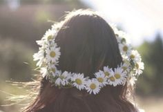 47 Trendy Flowers In Hair Hippie Boho Daisies Daisy Crown, Floral Crown, Just Girly Things, Zooey Deschanel, Favim, Summer Flowers, Flowers In Hair, Flower Hair, Flowers Today