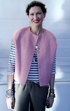 Jenna Lyons attends her J. Crew's fall 2010 collection.