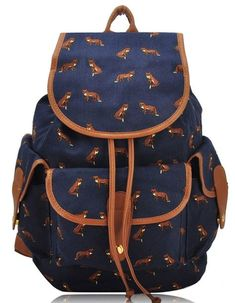 Fashion Lightweight Canvas Pattern School Backpack College Bookbag Daypack for Girls >>> Want to know more, click on the image.