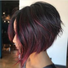 A-Line Bob Haircut - Trendy bob hairstyle for style-conscious and extravagant women - women& a-line bob style balayage - Inverted Bob Haircuts, Angled Bob Hairstyles, Hairstyles 2018, Curly Hairstyles, Short Inverted Bob, Choppy Haircuts, Medium Haircuts, Medium Hairstyles, Wedding Hairstyles