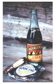 Sugah, would you like an RC and a moon pie?    Royal Crown cola originated in my home town, Columbus, Georgia, in 1905.  Moon Pies came from the Chattanooga, Tennessee area, beginning ca 1917.