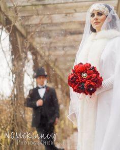 Winter Wedding Brooch Bridal Bouquet