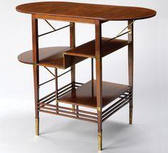 e.w. godwin walnut table with folding shelves - Google Search