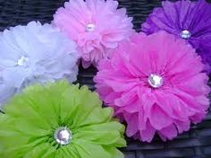 tissue flowers - Google Search