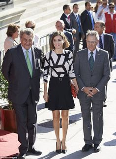Queen Letizia of Spain shows off her sartorial prowess as she arrives at the charity event