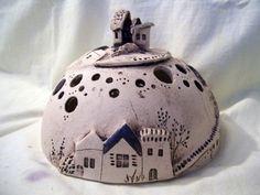 Sculptures - hemisphere 3 houses - a unique product by connimeyer on DaWanda Plastiken - Halbkugel 3 Häuser - ein Designerstück von connimeyer bei DaWanda Sculptures - hemisphere 3 houses - a unique product by connimeyer on DaWanda Pottery Houses, Ceramic Houses, Ceramic Clay, Ceramic Pottery, Pottery Art, Ceramics Projects, Clay Projects, Clay Crafts, Ceramics Ideas