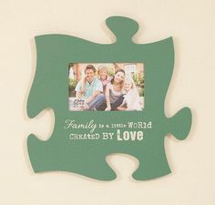 Puzzle Pieces Photo Frame Family 12 In W X 12 In H 21 00