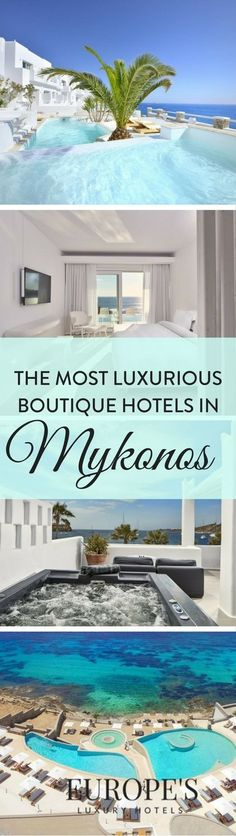 Mykonos | Looking for luxury or boutique hotel recommendations in Mykonos? Take a look at our top picks for best hotels in the area. Mykonos Greece is known to be a hotspot for holiday goers due to its luxury accommodations and beautiful hotels.