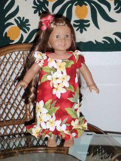 9ac614b550d95 Traditional Hawaiian Mu'u Mu'u for your American Girl Kanani or other 18  inch doll