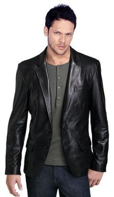 Men's Stylish Sicilian 2 Button Leather Blazer Very Comfortable Leather wear, with multiple spacious pockets giving plenty of room. Great for any occasion. -Made with Lambskin Leather -Fully Line Black Leather Blazer, Leather Men, Leather Coats, Lambskin Leather, Biker Leather, Real Leather, Mens Designer Leather Jackets, Uniform Shirts, Pilot Uniform