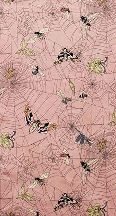 Alexander Henry - A Ghastlie Web pattern (wallpaper design? Web Patterns, Pretty Patterns, Textile Patterns, Surface Pattern Design, Pattern Art, Motif Design, Textile Prints, Textiles, Motifs Animal