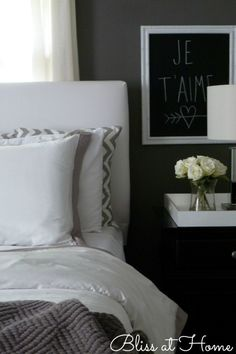 Lovely serene bedroom.