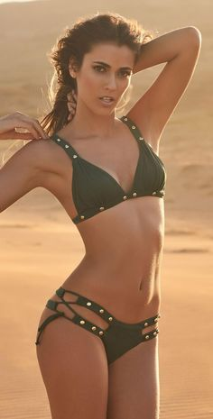 Irgus Swimwear Triangle Studded Bikini 3010